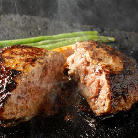 【送料無料】究極のひき肉で作る 濃厚 牛100% ハンバーグステーキ 200g×4個入り (プレーン200g)03