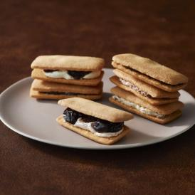 大粒の巨峰を贅沢に3粒、ラムの香りづけをしてホワイトチョコレートのクリームでサンド。