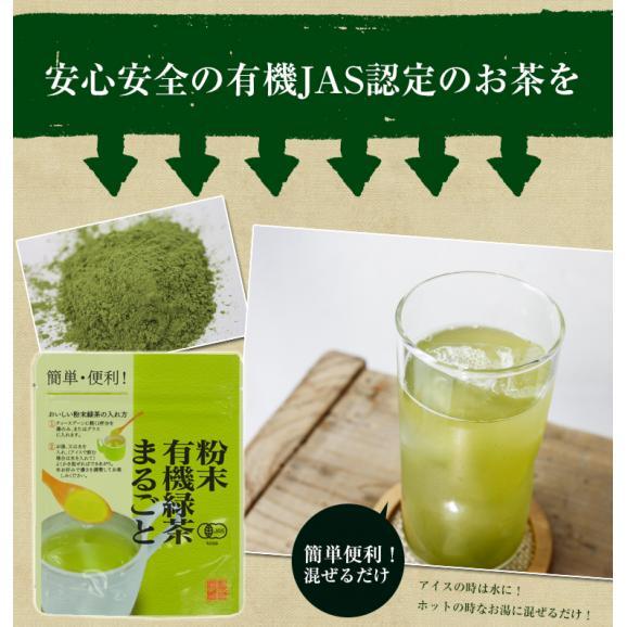 粉末緑茶 国産 オーガニック まるごと 緑茶 粉末 50g パウダー 送料無料01