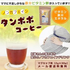 たんぽぽ茶 タンポポコーヒー マグカップ用 ティーバッグ 2g 30包 ノンカフェイン たんぽぽ茶 妊活 送料無料