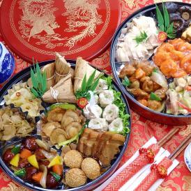 本格中華おせち オードブル 清水 重箱あり 2021 料理 おせち料理 送料無料 4~5人前 二段重 中華風 クーポン