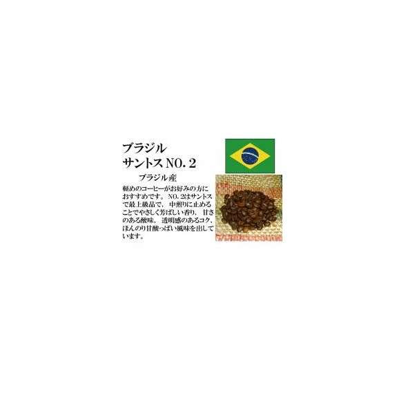 メール便 送料無料 ブラジル サントス NO,2 300g レギュラーコーヒー コーヒー コーヒー豆01