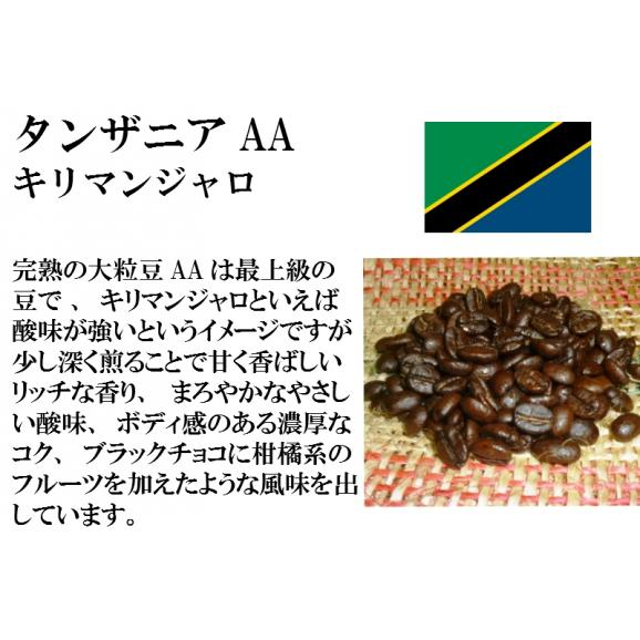 比較テイスティングセット ストレートコーヒー& ストレートコーヒー タンザニアAA(キリマンジャロ) ブラジルインペリアル トパーズ シャローン エステート 150g+150g/レギュラーコーヒー/02