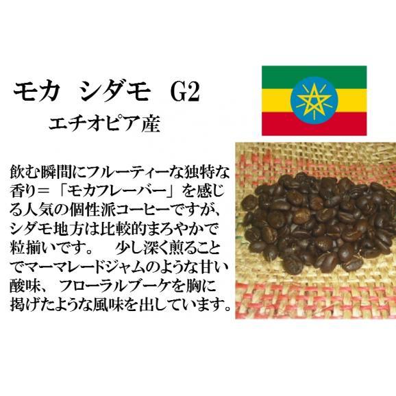 比較テイスティングセット ストレートコーヒー& ストレートコーヒー モカ シダモ G2 ブラジルインペリアル トパーズ シャローン エステート 150g+150g/レギュラーコーヒー/コーヒー豆02
