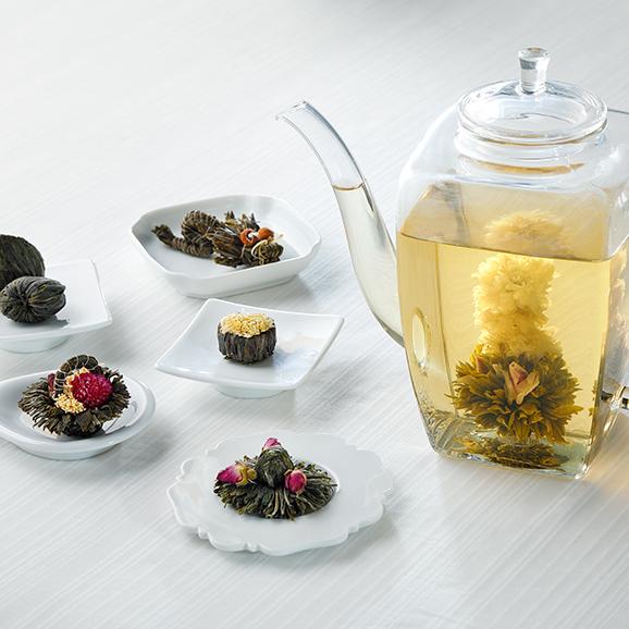 花咲くお茶 康藝銘茶(5種)桐箱セット01