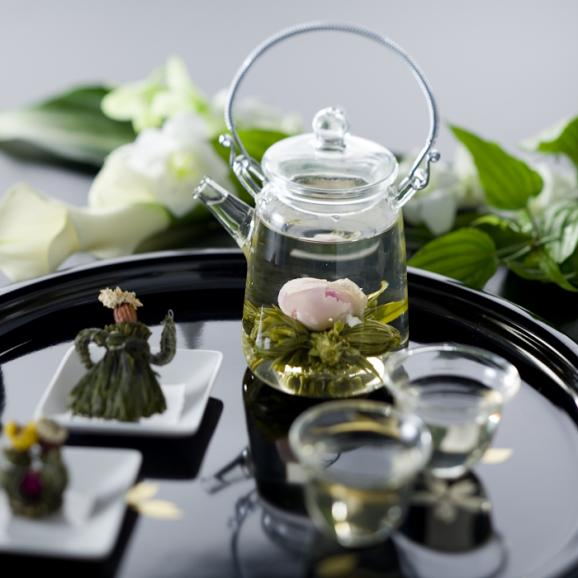 バラの康藝銘茶(5種)とオリジナルグラスの花咲くお茶ギフトセット01