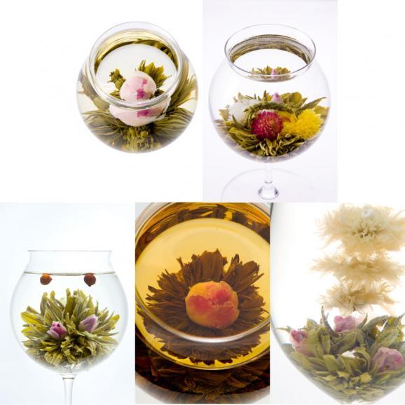 バラの康藝銘茶(5種)とオリジナルグラスの花咲くお茶ギフトセット02