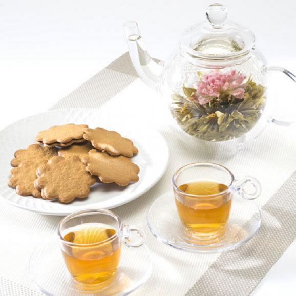 バラの康藝銘茶(5種)とオリジナルグラスの花咲くお茶ギフトセット03