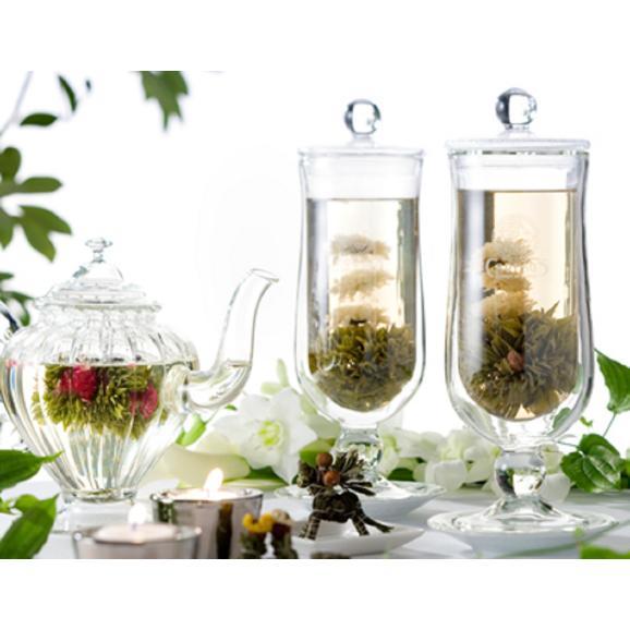 バラの康藝銘茶(5種)とオリジナルグラスの花咲くお茶ギフトセット04