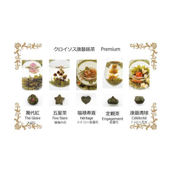 ~花咲くお茶~工藝銘茶アソート2缶(10珠)+丸ポット付きギフト05