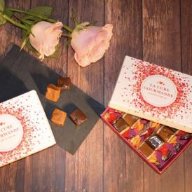人気の塩キャラメルとチョコレートキャラメルのミニボックス
