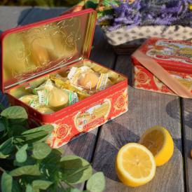チョコレートとレモンのビスケットが半分ずつ入ったアソートメント