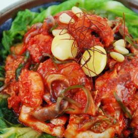 ※予約販売※【送料無料】【限定100個】伝統の約束 冬季だけ味わえる4種の海鮮キムチ 350g