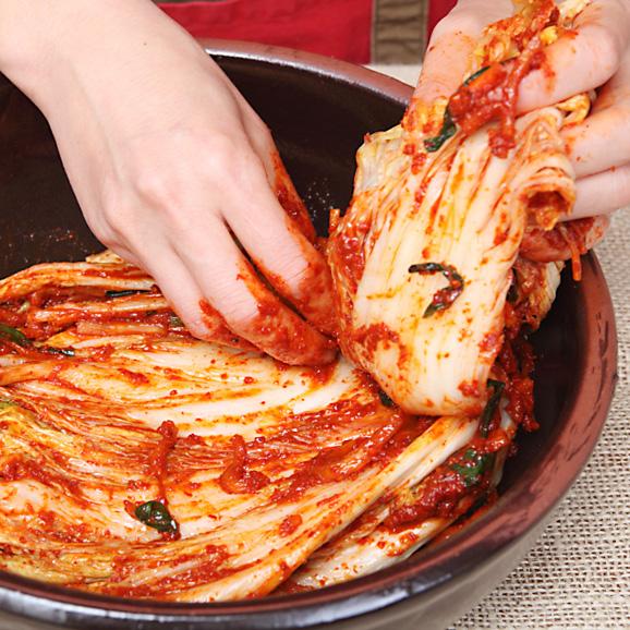 【数量限定!】【人気NO.1商品】*伝統の約束* ペチュキムチ(白菜のキムチ) 500g *カット02