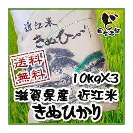 【送料無料】 28年 滋賀県産 近江米 きぬひかり 10kg×3