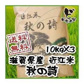 【送料無料】 28年 滋賀県産 近江米 秋の詩 10kg×3