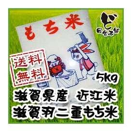 【送料無料】 28年 滋賀県産 近江米 滋賀羽二重もち米 5kg