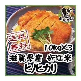 【送料無料】 28年 滋賀県産 近江米 ヒノヒカリ 10kg×3