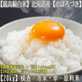 おぼろづき 北海道産(白米)20kg (10kg×2 北海道 29年産 最高級 一等米 特A)JA北海道、ホクレン入荷米、ギフトにも大好評、高評価ありがとうございます!