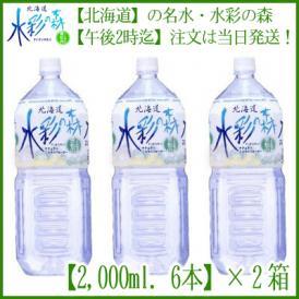 (水 北海道) 水彩の森 2L×12本 (天然水 北海道産)