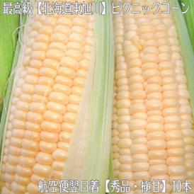 北海道産 ピクニックコーン 極甘 希少 10本(北海道 最高級 トウモロコシ)北の大地の香りと、本当に甘い粒、ギフトにも大好評、高評価ありがとうございます!