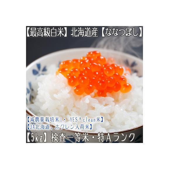ななつぼし 北海道産(白米)5kg×1 (北海道 30年産 最高級 一等米 特A)JA北海道、ホクレン入荷米、ギフトにも大好評、高評価ありがとうございます!01
