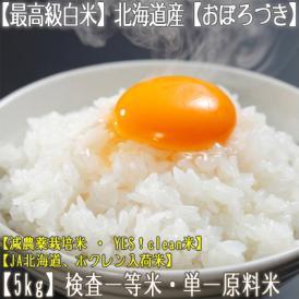 おぼろづき 北海道産(白米)5kg×1 (北海道 29年産 最高級 一等米 特A)JA北海道、ホクレン入荷米、ギフトにも大好評、高評価ありがとうございます!