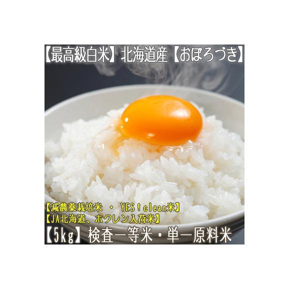 おぼろづき 北海道産(白米)5kg×1 (北海道 30年産 最高級 一等米 特A)JA北海道、ホクレン入荷米、ギフトにも大好評、高評価ありがとうございます!01