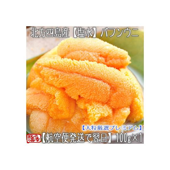 ウニ 北海道 塩水 生エゾバフンウニ 100g×1(北方四島産 うに)獲れたてそのままの自然の美味しさ。ギフトにも大好評です、高評価ありがとうございます!01