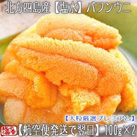 ウニ 北海道 塩水 生エゾバフンウニ 200g(100g×2 北方四島産 うに)獲れたてそのままの自然の美味しさ。ギフトにも大好評、高評価ありがとうございます!