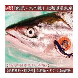 (鮭児)北海道産 鮭児 2.5kg前後 道東産(最高級 タグ 姿)幻の鮭 希少な秋鮭(送料無料 北海道通販)