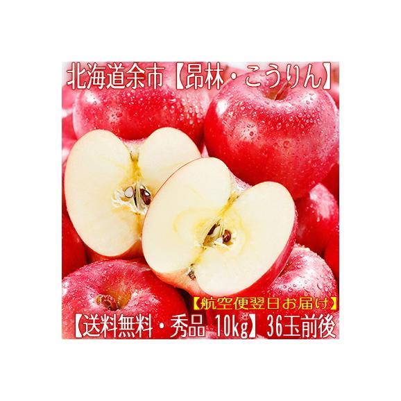北海道産 りんご 昂林 こうりん 10kg 36玉前後(北海道 秋リンゴ JA余市 秀品)酸甘のバランスは最高傑作、ギフトにも大好評、高評価ありがとうございます!01