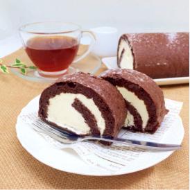 小麦粉不使用! 糖質オフ ココアロールケーキ