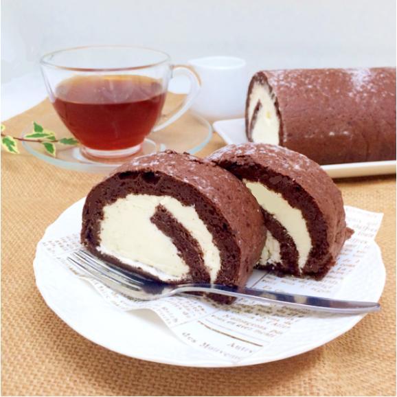小麦粉不使用! 糖質オフ ココアロールケーキ01