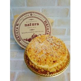 糖質を最大限に抑えたレアチーズケーキです。チーズケーキとクランブルのサクサク感は相性抜群です!