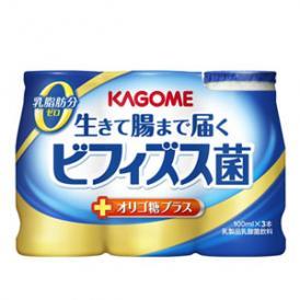 カゴメ 生きて腸まで届くビフィズス菌 オリゴ糖プラス 100ml×18本 【4~5営業日以内に出荷】