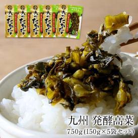 九州 発酵高菜 750g(150g×5袋セット)[メール便]【3~4営業日以内に出荷】【送料無料