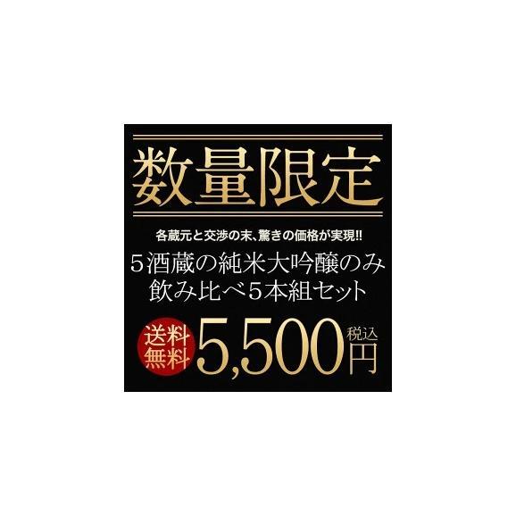 日本酒 飲み比べ  5酒蔵の純米大吟醸 飲み比べ720ml 5本組セット[常温]【5~8営業日以内に出荷】【送料無料】ギフト 日本酒 プレゼント お酒 お祝い オリジナル 贈答04
