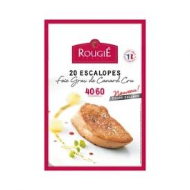 ROUGIE社フランス産 フォアグラ・ド・カナール エスカロップ 約40 - 60gカット[20枚 約1kg]【3~4営業日以内に出荷】【送料無料】
