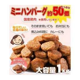 メガ盛り 一口ハンバーグ約50個(国産鶏使用)1kg