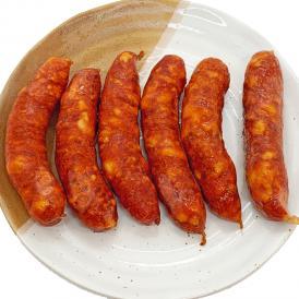 豚肉にレッドペッパーをたっぷり加えた、辛さが際立つチョリソーです。ビールによく合う商品です。