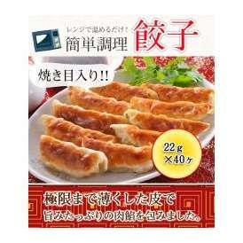 餃子(焼き目入り) 880g(22g×40ヶ) 【レンジでチン】