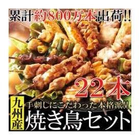 【送料無料】【同梱不可】九州産焼き鳥セット22本入り 手刺しにこだわった本格派!!(NK00000047)