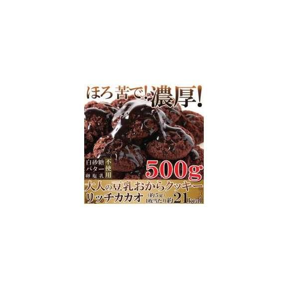 【送料無料】【同梱不可】クッキーリッチカカオ500g 国産大豆使用!!カカオ分22%配合でほろ苦い大人の豆乳おから(SM00010273)01
