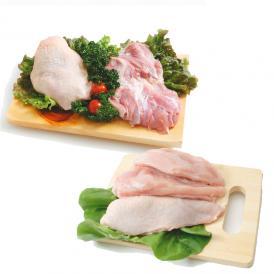 【送料無料】【鶏肉】日南どり 鶏もも肉 むね肉セット(もも肉2kg+むね肉2kg)合計4kgセット(宮崎県産)【鳥肉】(fn67801)ビタミンEを豊富に含んだオリジナルの飼料を用いた元気チキン。