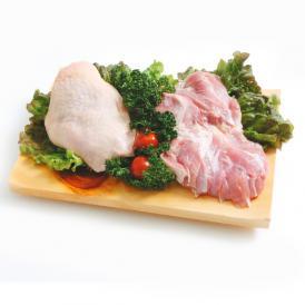 桜姫 鶏もも肉 2kg (宮崎県産) (im)透明感のある桜色で、鶏独特の臭みが少なく、一般の鶏肉に比べてビタミンEが3倍以上