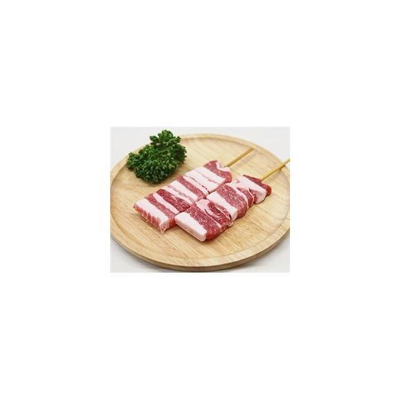 豚バラ串 40g×20本 外国産豚 (15cm丸串)(pr)(46320)(やきとん)01