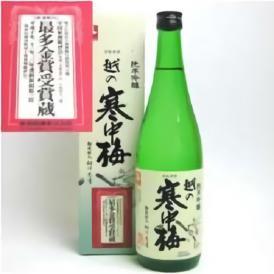 越の寒中梅 純米吟醸酒 720ml 新潟銘醸