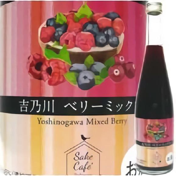 吉乃川 ベリーミックス Sake Cafe(サキカフェ) 500ml01