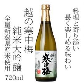 越の寒中梅 新潟県産米100%使用 純米大吟醸 720ml 新潟銘醸